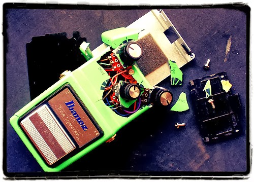 Broken Ibanez Tubescreamer
