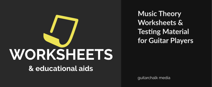 Music Theory Worksheets for Guitar Players: PDF Downloads