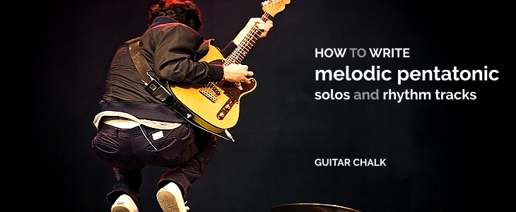 How to Write & Record Pentatonic Scale Guitar Solos with Backing Tracks