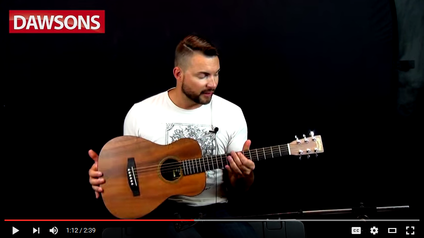 Best Martin Acoustic Guitar for Small Hands (screengrab)