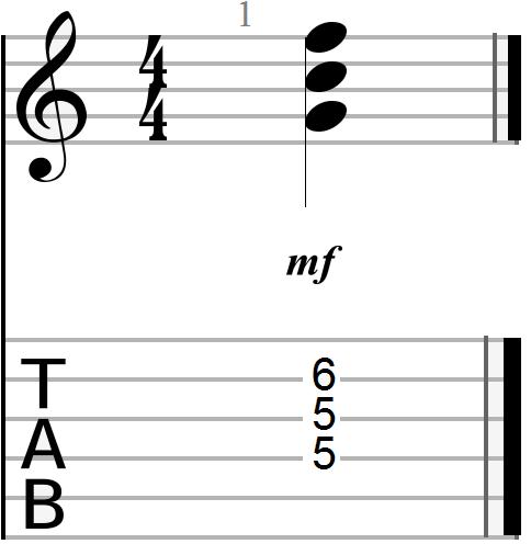 C Major Triadic Barre Chord