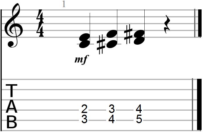 Dyadic Chord Progression Example