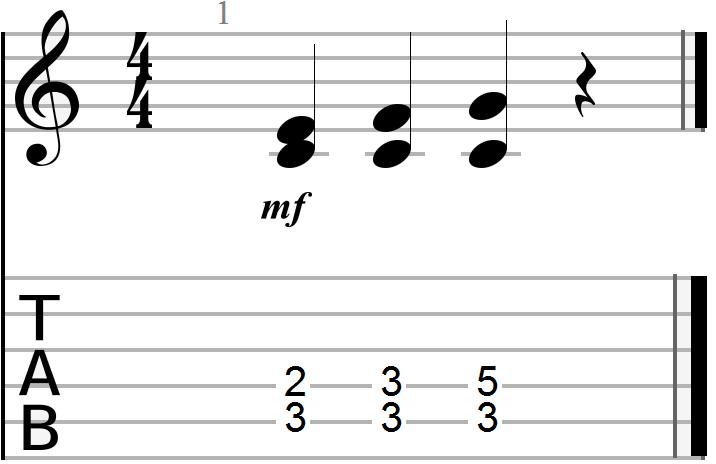 Dyadic Chord Progression in the key of C