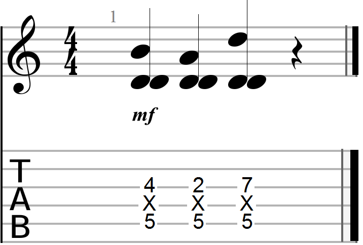 Dyadic Chord Progression in the Key of D