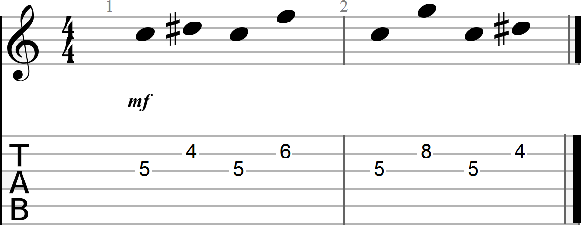 Dyadic Chord Progression in the key of G (minor)