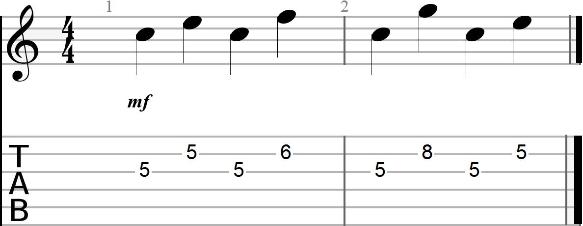 Dyadic Chord Progression in the key of G