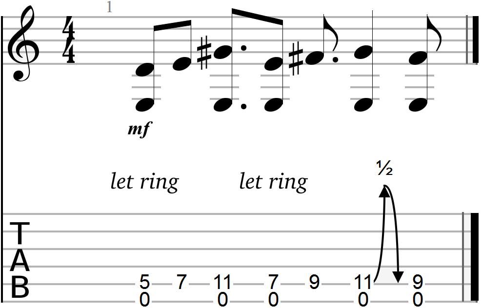 E Major Chord Progression with Major Tone