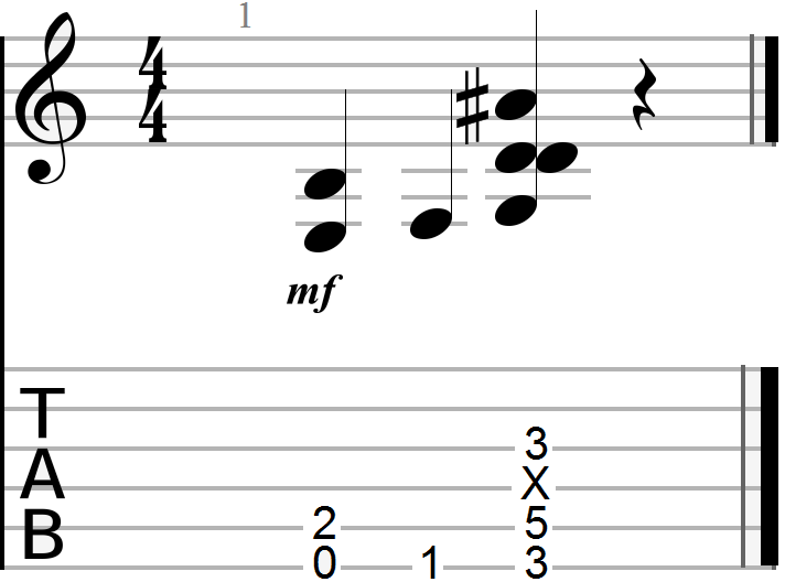 E to G Power Chord Progression (minor G chord example)