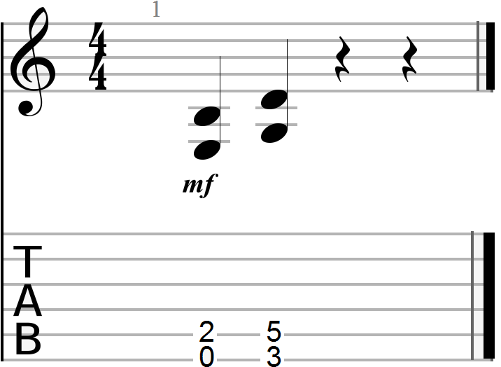 E to G Power Chord Progression