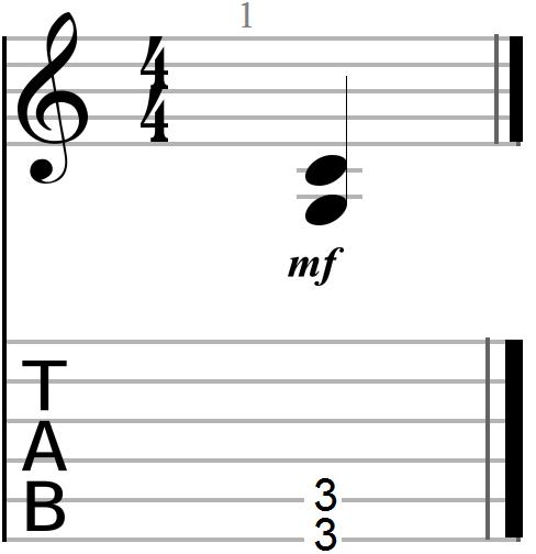 Root plus fourth dyadic chord