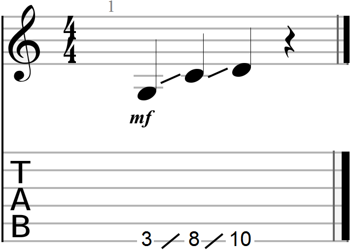 G, C and D 12 Bar Blues Chord Progression Root Notes (sliding method)