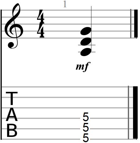 G Major Power Chord Shape (drop D version)