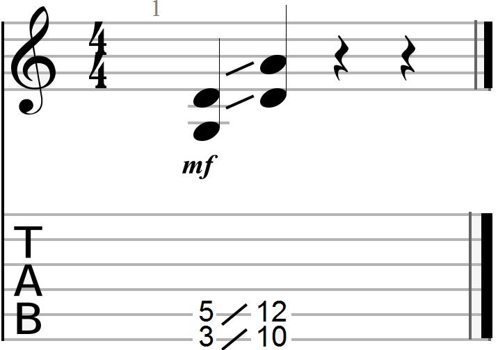 G to D Chord Progression (sliding technique)