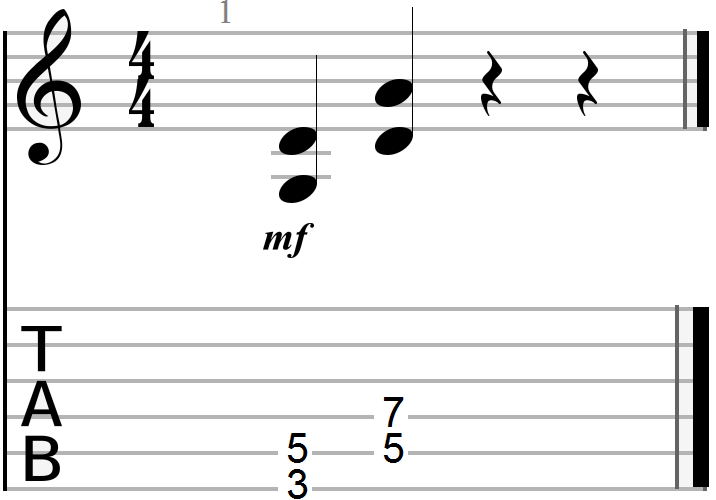 G to D Chord Progression (sixth and fifth string root)