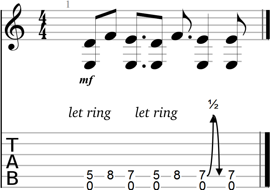 Siva Chord Progression with Minor Second Interval