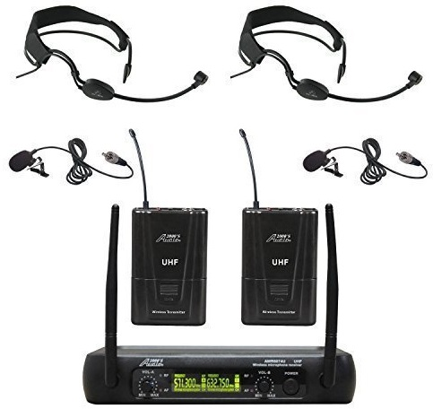 Audio 2000s AWM6074UF Dual Channel UHF Wireless Microphone System