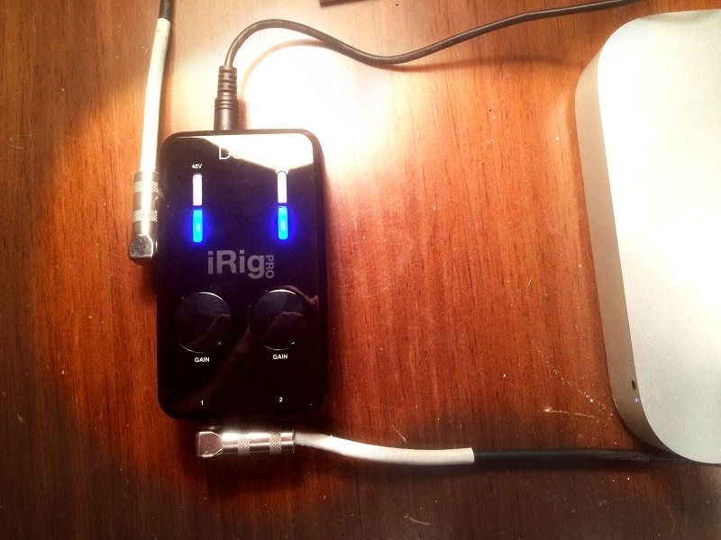 Guitar Cable iRig Duo and Mac Mini Connection