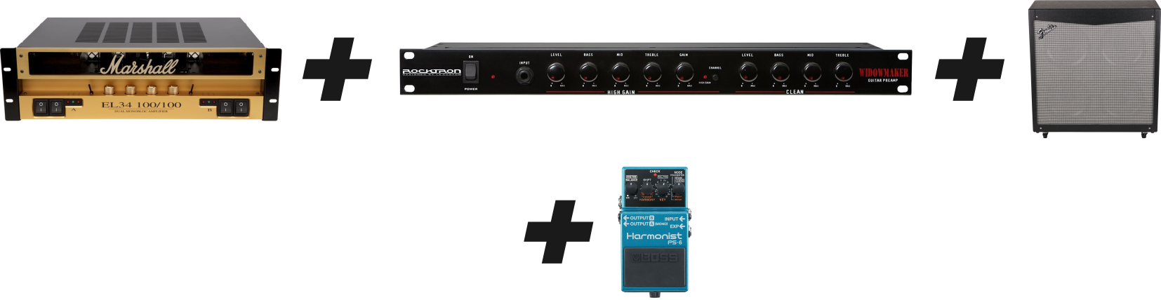 how to setup a guitar rack system with the proper cases guitar chalkguitar rack system setup option (preamp, power amp and speaker)