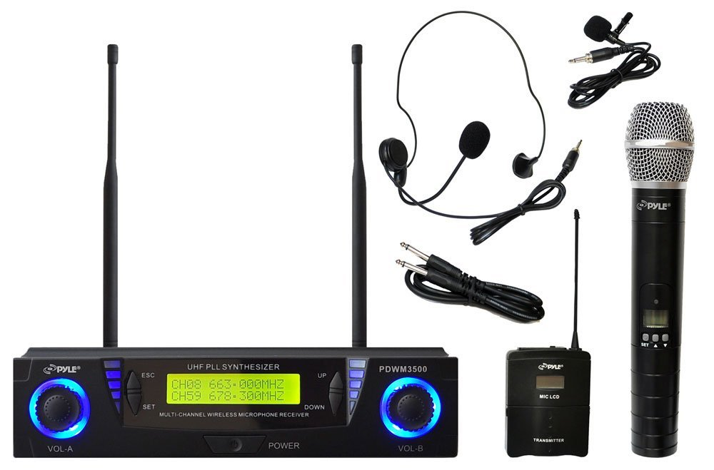 Pyle PDWM3500 Wireless Microphone System