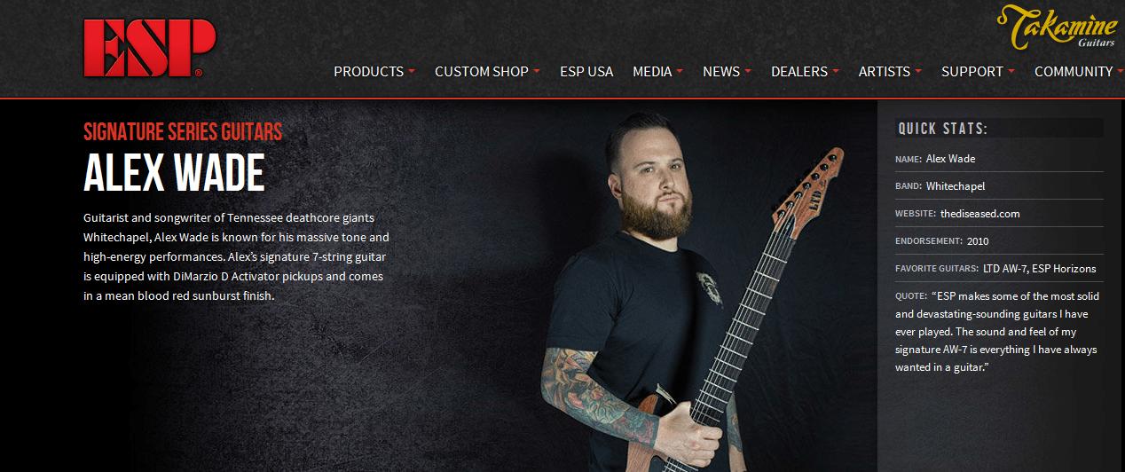Alex Wade Signature Guitar