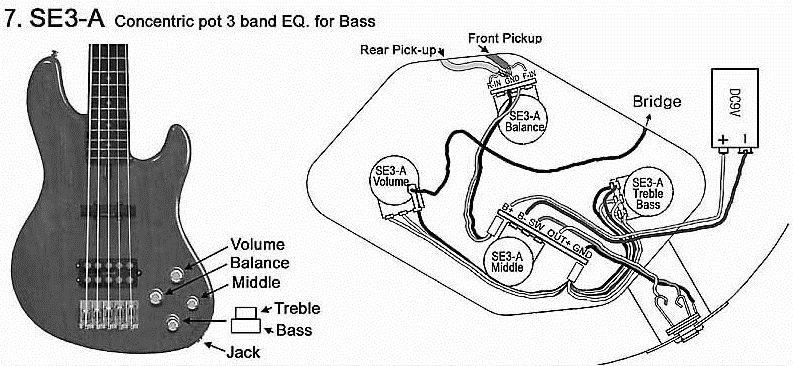 Active Bass Guitar Wiring Diagrams Auto Wiring Diagram Today