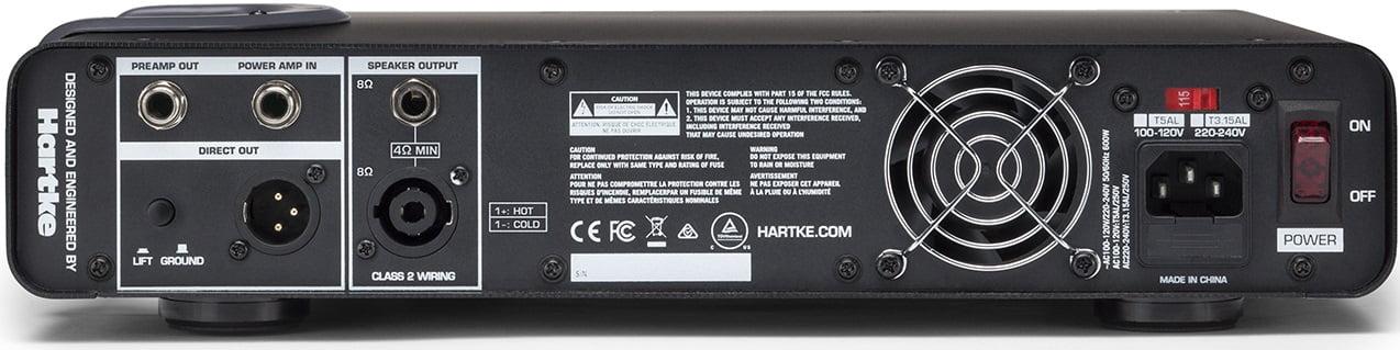 Hartke TX600 Back Panel