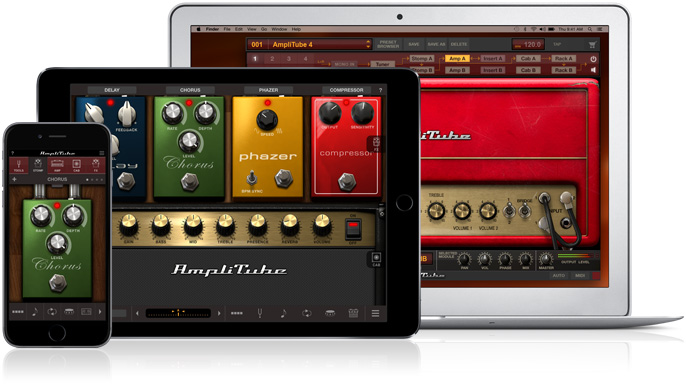 iPhone, iPad and Mac Amplitube Software for the iRig HD 2