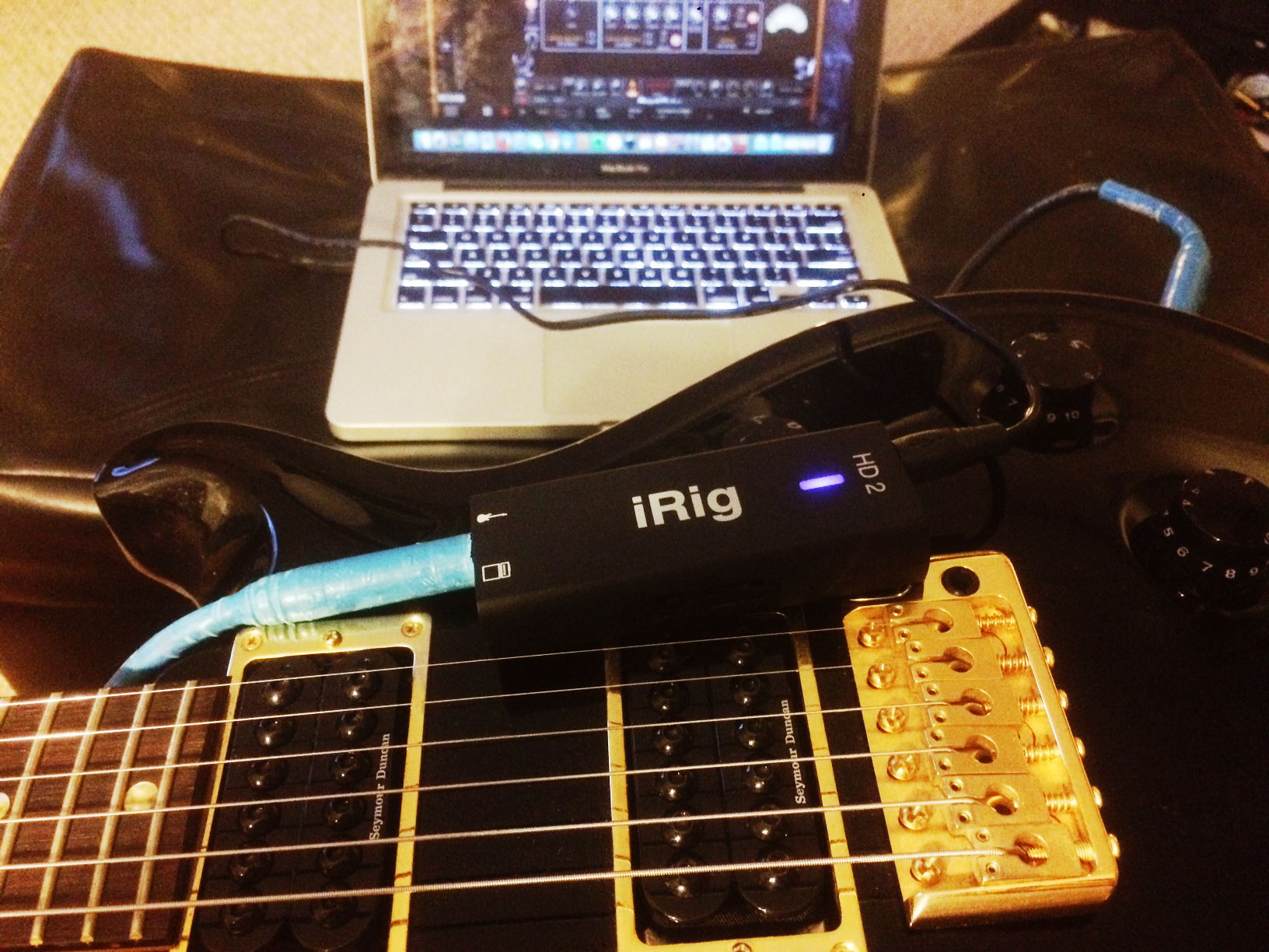 iRig HD 2 Connected to my Guitar
