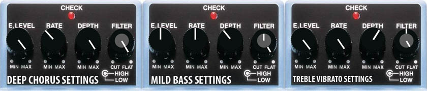 Boss CE-5 Chorus Pedal Settings