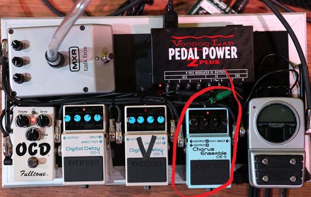 Don Felder Pedalboard with Boss CE-5 Chorus Pedal