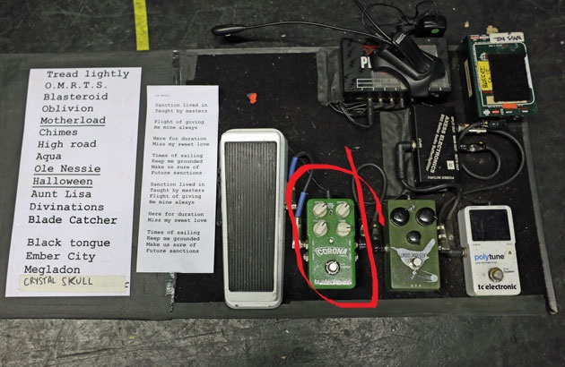 Troy Sanders Pedalboard for the Corona Chorus Pedal