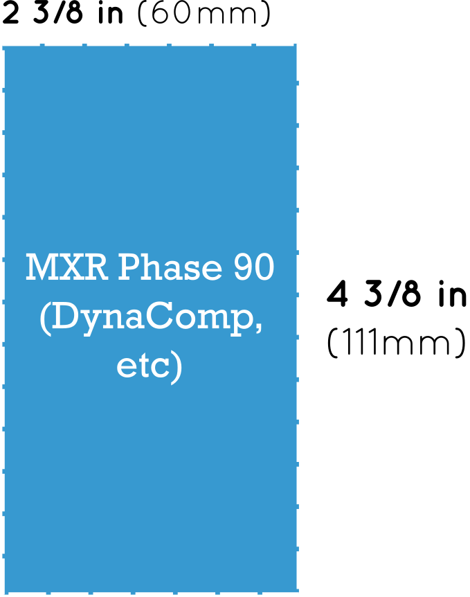 MXR Phase 90 Style Pedal Dimensions