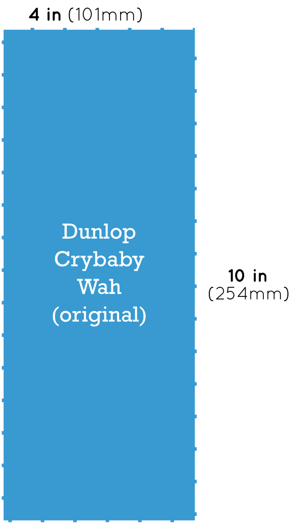 Dunlop Crybaby Wah Pedal Dimensions