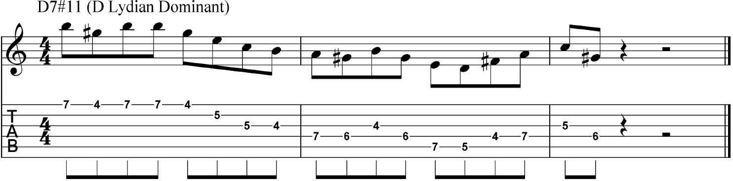 Jazz Lead Guitar Routines In The Lydian Dominant Mode Guitar Chalk
