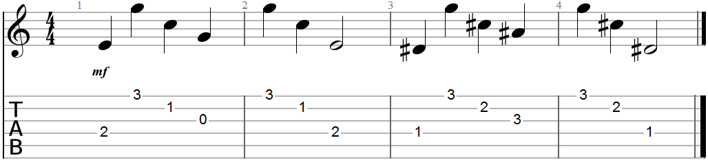 Ragtime Blues Guitar Tab Example