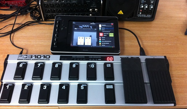 Behringer FCB1010 iPad connection