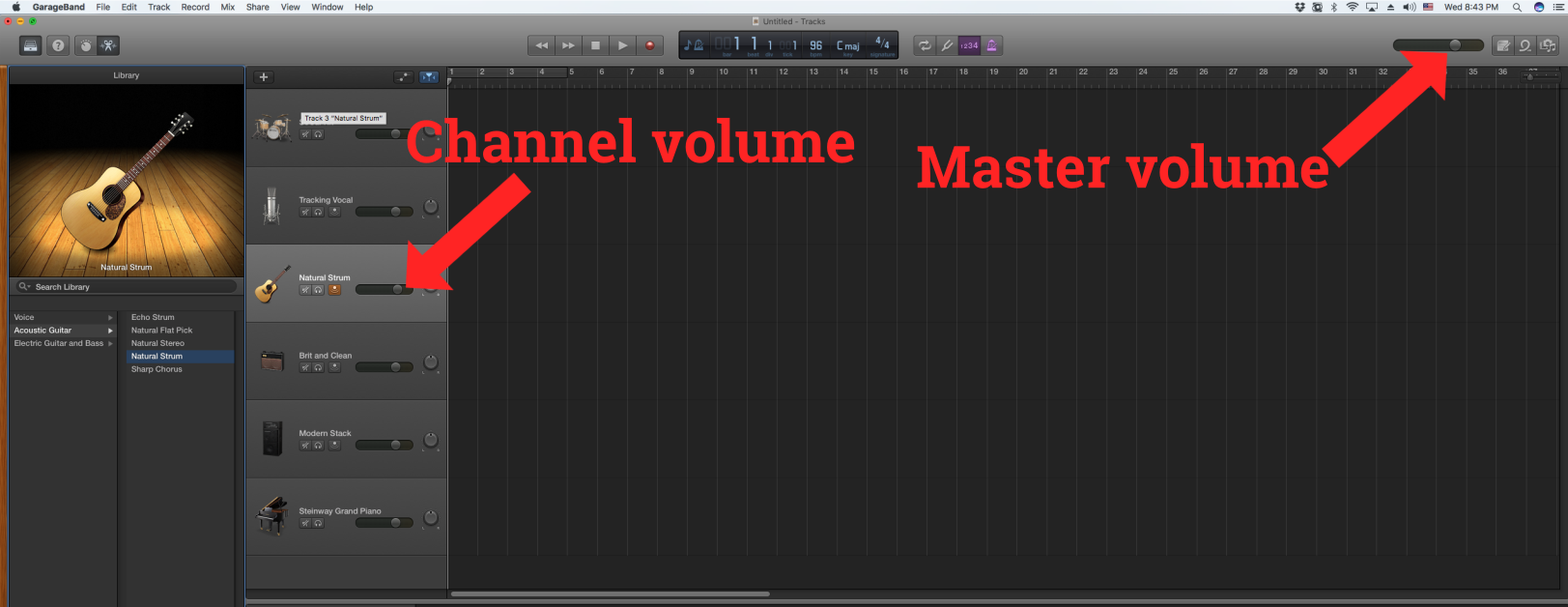 how to connect guitar to garageband