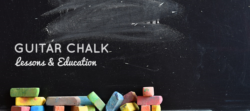 Guitar Chalk Lessons and Education Banner