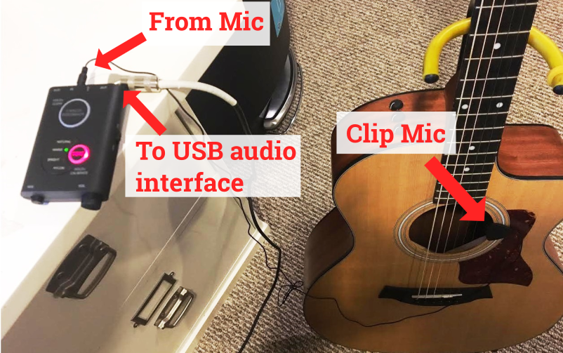Recording Acoustic Guitar In Using The Irig Acoustic Stage Guitar