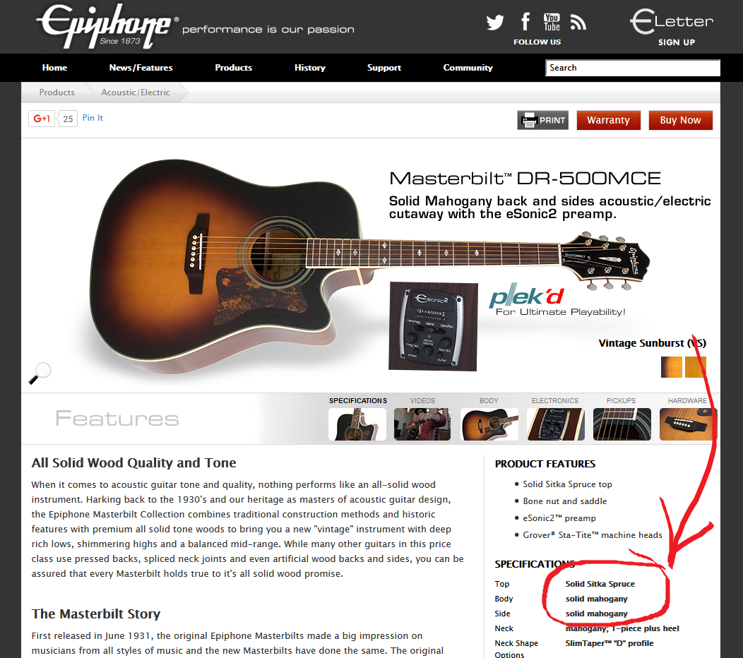 5 Best Acoustic Guitars Under 1000 Dollars Roundup Guitar Chalk Steel Wiring Diagram Epiphone Specs Solid Wood