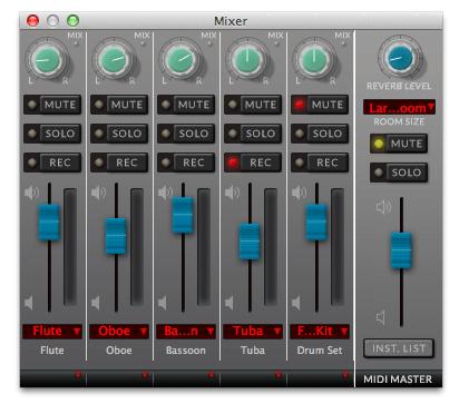 Finale V25 Mixer Interface