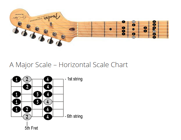 Guitar Scale Diagram Lesson Screenshot