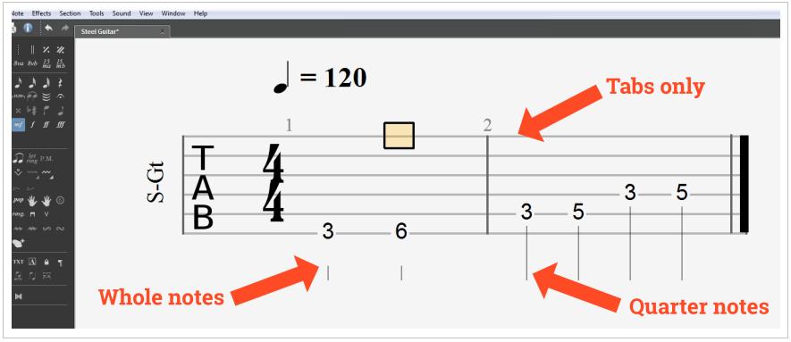 Sheet Music from Guitar Pro 6