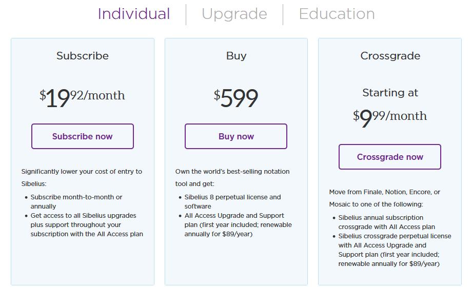 Sibelius Pricing