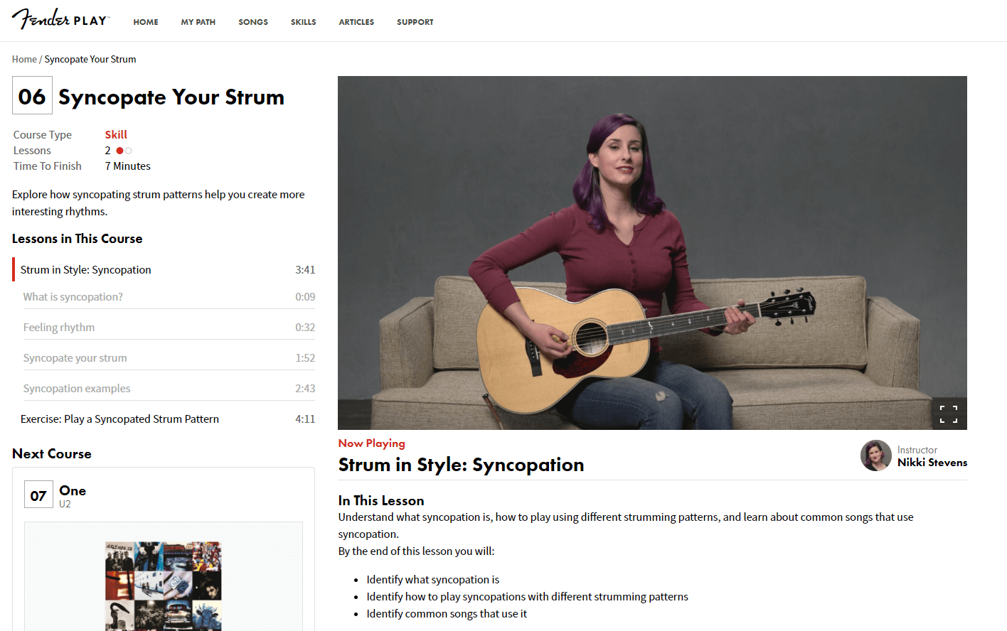 Fender Play Screenshot