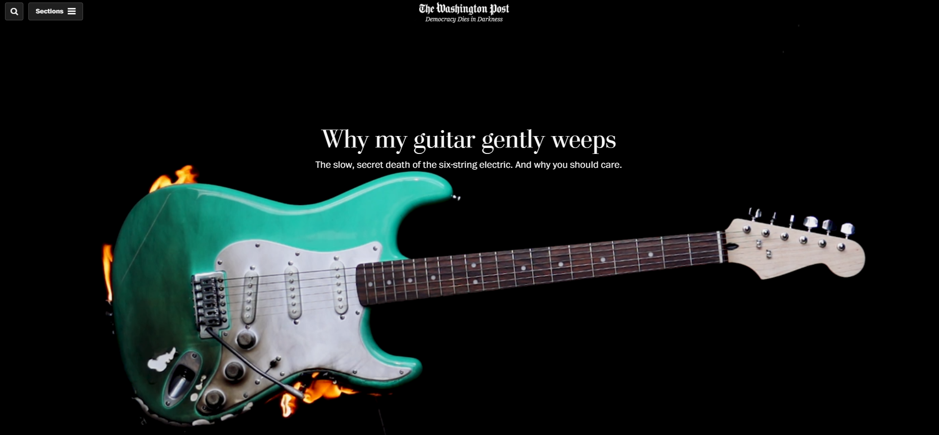 Why My Guitar Gently Weeps - The Slow, Secret Death of the Electric Guitar