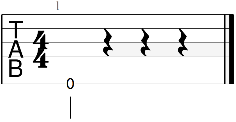 E Chord Root Note (open string)
