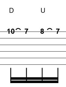 Difficult Guitar Tab Example with Pull Offs