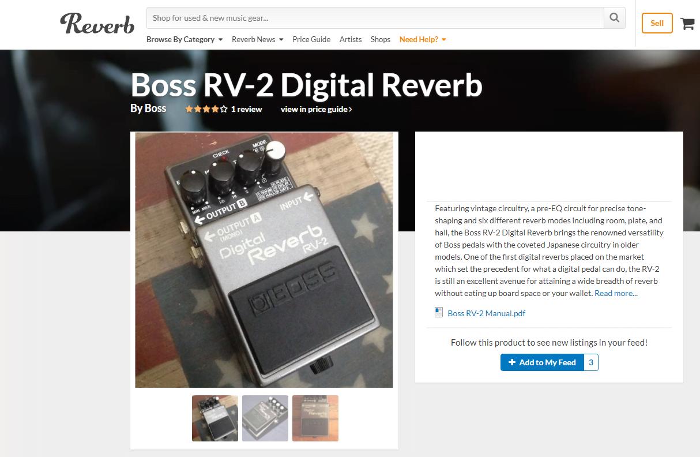 master list of best reverb pedals guitar chalk. Black Bedroom Furniture Sets. Home Design Ideas