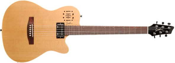 Godin A6 Electro Acoustic Guitar for Blues (natural finish)
